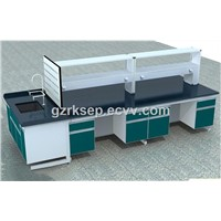 Chemical resistance durable cold rolled steel chemistry laboratory equipment bench furniture