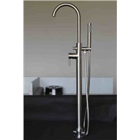 Cold and hot water bath faucet and shower