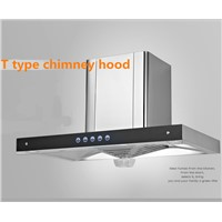 T stye stainless steel vented range hood/cooker hood for kitchen appliance/exhaust hood