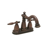 "Antique oil rubber 4"" centerset basin faucet"