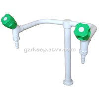 Laboratory Used Panel Suspended Mounted Two way Outlet Faucet Wall Mounted Lab Water Tap