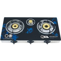 3 burners Tempered glass table gas stove cookertops