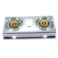 hot selling kitchen appliance stainless steel 2 burner gas stove