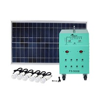 150W Solar Panel 80AH Deep Cycle AGM Battery DC Solar Energy Systems for Lighting FS-S908