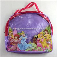 Fashionable Printed Clear PVC School Bag With Zipper