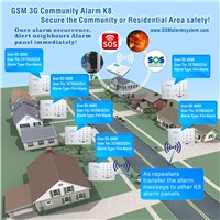 GSM 3G Community Alarm for Commercial  alarm  Building,street and Residential area