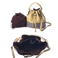 Beautiful Leather Drawstring Bags,Women Leather Bags