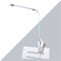 Adjustable Goose Neck LED Clip-on Table Reading Light with Brightness Dimming