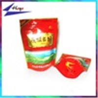Zipper Top Sealing Laminated Material stand up tea bag