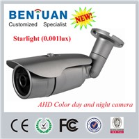 2015 latest starlight cctv camera: 1MP AHD camera 0.001 low lux color day and night cctv camera
