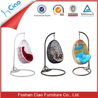 Cheap poly rattan garden furniture hanging swing egg chair