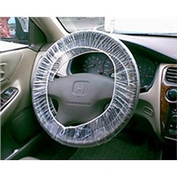 Disposable PE plastic steering wheel cover used in repair&maintenance