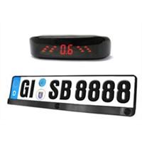 Number plate 3 sensor LED display reverse parking sensor