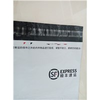 Large scale size plastic mailing courier bags customized in black gray white color