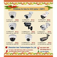 Christmas Promotion 1.3MP AHD camera, High defination AHD camera and AHD DVR