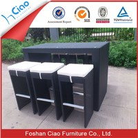Bar set outdoor furniture specific use rattan material