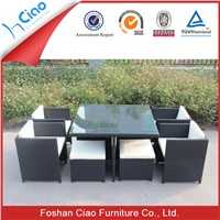 New design dining table and chair set garden sets PE rattan outdoor furniture