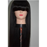100% Remy Human Hair Full Lace Wig  Brazilian Hair 130% Hair Densiy  Natural Black Color