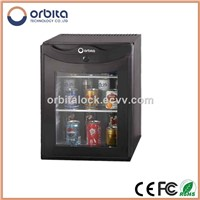 hotel minibar fridge with 220V at 50Hz power source
