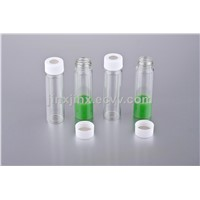 HM-82401ml shell vials, clear borosilicate glass,  8mm PE-Plug,soft, without insertion  8.2*40mm