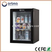 40L glass door hotel minibar, glass door mini bar fridge