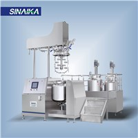 Cosmetic high shear dispersing emulsifier homogenizer mixer