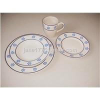Hand painted 16pcs stoneware dinnerware sets