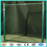 PVC coated diamond security chain link fencing rolls