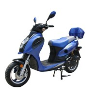 50cc 4 Stroke Gas Powered Scooter 10inch Tire Front Disk Brake Rear Drum Brake With Free Trunk
