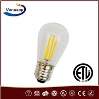 E27 CE&RoHs LED Cob bulb 4W 2200k Dimmable E26 ETL S14 led Filament bulb