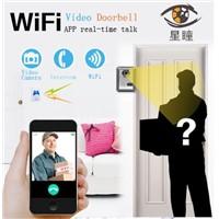 WiFi doorbell home video intercom wireless mobile phone network monitoring anti-theft alarm unlock