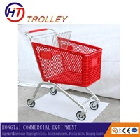 Light weight Plastic basket trolley frame with different capacity