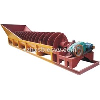 Spiral sand washing machine with sand recovery system