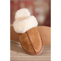 Tranditional Handmade Warm Winter Women Scuff Sheepskin Slipper