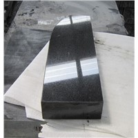 Absolute black granite banana shape slab