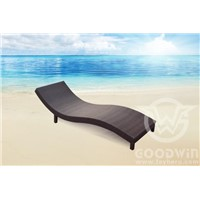 GW3402 2015 New design outdoor furniture rattan S shape chaise lounge