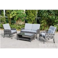 GW3403 New design garden furniture wicker sofa with cushion cover