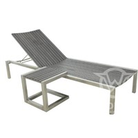 GW4046SET New design polywood chaise lounge chair with stainless steel frame