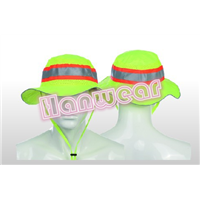 High visibility hat with reflective tape H201511