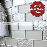 """MM-Mosaic 2""""x4"""" kitchen subway glass mosaic tile"""