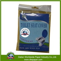 Pocket size disposable  toilet seat cover paper