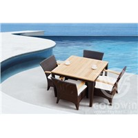 GW3061 SET E outdoor furniture rattan woven dining set