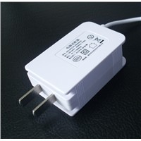Wall plug power adapter for US market