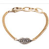 fashion alloy Crystal stone statement necklace
