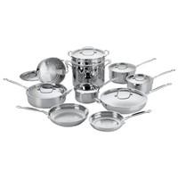 77-17 C*isinart - Chef's Classic 17-Piece Cookware Set - Stainless-Steel