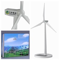 Solar Power Plastic Wind Generator Model for gifts