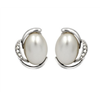 fashion alloy pearl beads with CZ stone earring