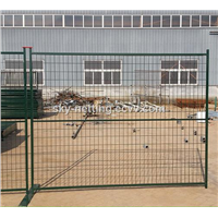 Canada galvanized then powder coated removable 6x10 temporary fence
