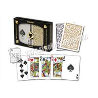 Brazil Copag Gold  Black 1546 Marked Poker Cards Spy Playing Cards