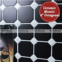 "In stock 4"" octagonal ceramic mosaic tile for kitchen"